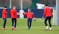 9th March 2020, Red Bull Arena, Leipzig, Germany; RB Leipzig press confefence and training ahead of their Champions League match versus Tottenham Hotspur on 10th March 2020; Marcel Sabitzer 7, Hannes Wolf 19, Timo Werner 11, and Philipp Tschauner 33, RB Leipzig. ,