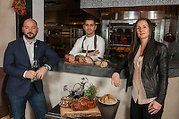 Laurent Kalkotour, center, Leslie Affre, left, and Alexander LaPratt at Beast &amp; Bottles in Brooklyn Heights. <br /> <br /> Whole duck feast: Long Island duck, smoked breast with wild honey and lavender.<br /> <br /> Charcuterie- selection of housemade terrines (rabbit, pork and foie gras, duck)<br /> <br /> Buckwheat galettes (goes with duck for confit of leg to roll it up and pickled carrots)<br /> <br /> <br /> <br /> Danny Ghitis for The New York Times