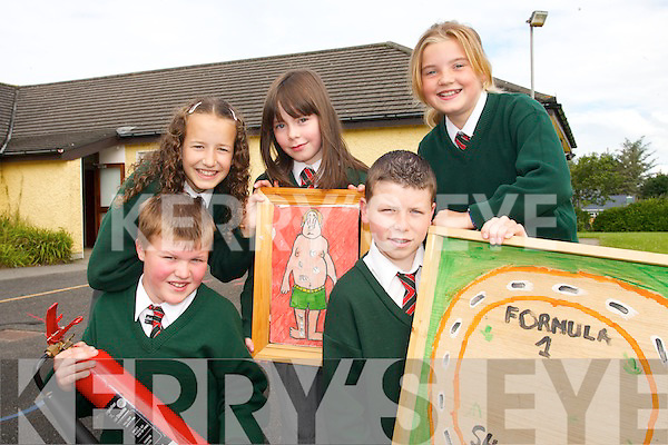 SCIENTISTS: Pupils from Firies National School, who have been awarded a Science School of Excellence Award..Front L/r. Michael Fell, Micheal O'Connor..Back L/r. Una Gleeson, Niamh Mannix and  Niamh Clifford. .