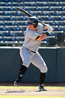 Mesa Solar Sox outfielder Robbie Grossman #15 during an Arizona Fall League game against the Phoenix Desert Dogs at Phoenix Municipal Stadium on October 31, 2011 in Phoenix, Arizona.  Mesa defeated Phoenix 3-1.  (Mike Janes/Four Seam Images)