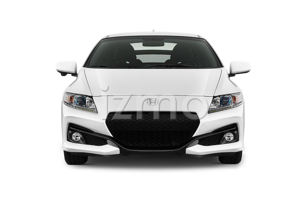 Car photography straight front view of a 2016 Honda CRZ EX 3 Door Hatchback Front View