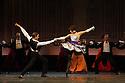 Edinburgh, UK. 29.08.2012. Mariinsky Ballet presents CINDERELLA as part of the Edinburgh International Festival. Picture shows: Islom Baimuradov (as dance teacher) and Nadezhda Bateova (as dance teacher). Photo credit: Jane Hobson.