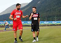 Mario Rui neo acquisto del  durante il suo primo allenamento nel ritiro precampionato a Dimaro