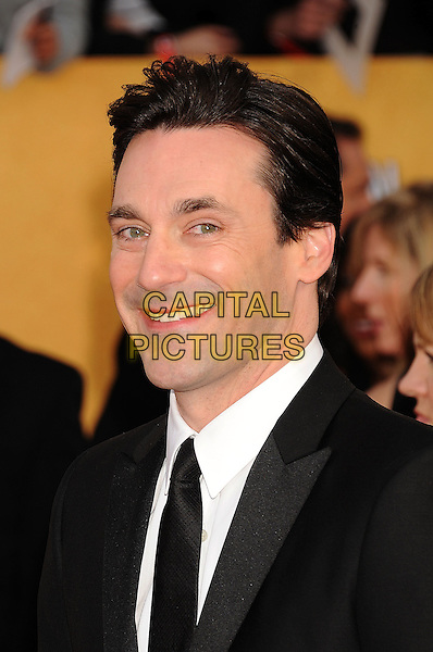 JON HAMM.The 17th Screen Actors Guild Awards held at The Shrine Auditorium in Los Angeles, California, USA,.January 30th 2011..SAG Sags arrivals headshot portrait black white tie.CAP/ROT/TM.©Tony Michaels/Lee Roth/Capital Pictures