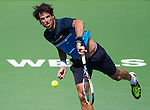 Feliciano Lopez (ESP) during his quarterfinal match against Andy Murray (GBR). Murray defeated Lopez by 63 64 at the BNP Parisbas Open in Indian Wells, CA on March 19, 2015.
