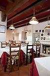 Restaurant interior, Puglia, Italy