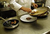 Preparazione dei piatti. Preparing of the dishes