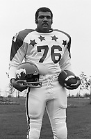 Herman Harrison 1970 Canadian Football League Allstar team. Copyright photograph Ted Grant