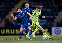 Bolton Wanderers' Ethan Hamilton competing with Rochdale's Jimmy Ryan (left) <br /> <br /> Photographer Andrew Kearns/CameraSport<br /> <br /> The EFL Sky Bet League One - Rochdale v Bolton Wanderers - Saturday 11th January 2020 - Spotland Stadium - Rochdale<br /> <br /> World Copyright © 2020 CameraSport. All rights reserved. 43 Linden Ave. Countesthorpe. Leicester. England. LE8 5PG - Tel: +44 (0) 116 277 4147 - admin@camerasport.com - www.camerasport.com