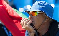 Brandenburg. GERMANY.<br /> Greek chief coach, Italian, Gianni POSTIGLIONE. 2016 European Rowing Championships at the Regattastrecke Beetzsee<br /> <br /> Saturday  07/05/2016<br /> <br /> [Mandatory Credit; Peter SPURRIER/Intersport-images]