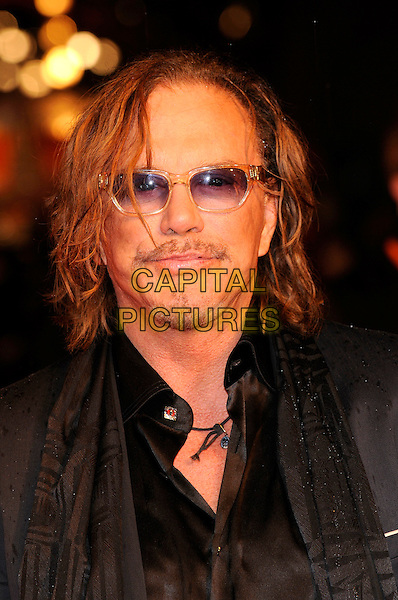 MICKEY ROURKE .The Orange British Academy Film Awards 2009, Royal Opera House, Covent Garden, London, England, February 8th 2009..BAFTAS arrivals portrait headshot sunglasses beard black facial hair  .CAP/FIN.©Steve Finn/Capital Pictures