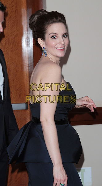 Tina Fey.84th Annual Academy Awards held at the Hollywood & Highland Center, Hollywood, California, USA..February 26th, 2012.oscars half length black strapless dress peplum side.CAP/ADM/SLP/JO.©James Orken/ SLP/AdMedia/Capital Pictures.