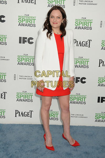 1 March 2014 - Santa Monica, California - Elisabeth Moss. 2014 Film Independent Spirit Awards - Arrivals held at Santa Monica Beach. <br /> CAP/ADM/BP<br /> &copy;Byron Purvis/AdMedia/Capital Pictures