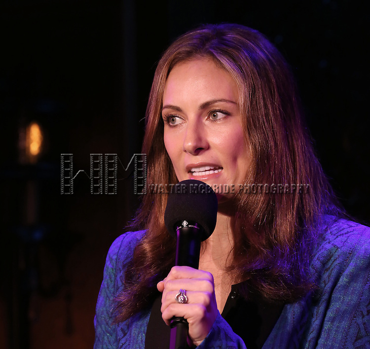Laura Benanti attending a Press Preview for her upcoming singing Engagement at 54 Below in New York City on 4/12/2013..She will be appearing May 20th - 25th  2013