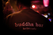 Server of the popular bar, Buddha Bar in Thamel in capital Kathmandu, Nepal