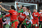 UEFA EURO 2016 Qualifier match between Wales and Andorra at Cardiff City Stadium in Cardiff : <br /> James Collins and Ashley Williams of Wales celebrating after the game.