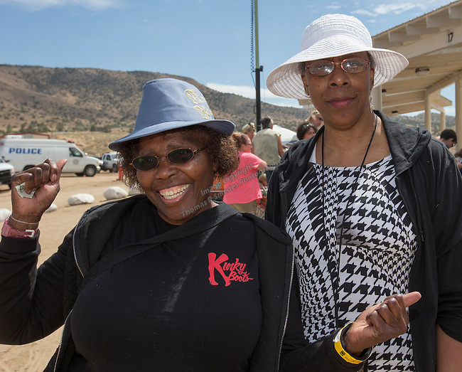 Barbara Curry and Marguerite Jackson at  the Numaga Indian Days Pow Wow in Hungry Valley on Saturday, Sept. 3, 2016.