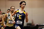 NAPERVILLE, IL - MARCH 11: Donson Cook-Gallardo of Carleton College runs in the mile at the Division III Men's and Women's Indoor Track and Field Championship held at the Res/Rec Center on the North Central College campus on March 11, 2017 in Naperville, Illinois. (Photo by Steve Woltmann/NCAA Photos via Getty Images)