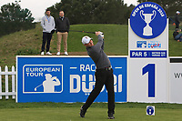 Richard McEvoy (ENG) on the 1st tee during Round 1 of the Open de Espana 2018 at Centro Nacional de Golf on Thursday 12th April 2018.<br /> Picture:  Thos Caffrey / www.golffile.ie<br /> <br /> All photo usage must carry mandatory copyright credit (&copy; Golffile | Thos Caffrey)