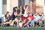 Santa Barbara, CA 02/18/12 - Lauren Littleton (Arizona State #24) and Kristin Lund (BYU #23) and Shelly Smith (BYU #4) in action during the Arizona State vs BYU matchup at the 2012 Santa Barbara Shootout.  BYU defeated Arizona State 10-8.