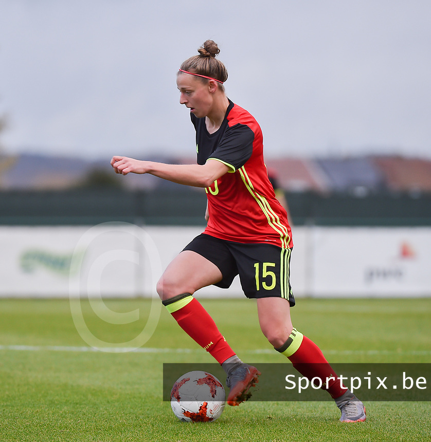 20171123 - TUBIZE , BELGIUM : Belgian Yana Daniels pictured during a friendly game between the women teams of the Belgian Red Flames and Russia at complex Euro 2000 in Tubize , Thursday  23 October 2017 ,  PHOTO Dirk Vuylsteke | Sportpix.Be