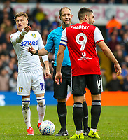 Leeds United's Ezgjan&nbsp;Alioski reacts to a decision from referee Jeremy Simpson<br /> <br /> Photographer Alex Dodd/CameraSport<br /> <br /> The EFL Sky Bet Championship - Leeds United v Brentford - Saturday 6th October 2018 - Elland Road - Leeds<br /> <br /> World Copyright &copy; 2018 CameraSport. All rights reserved. 43 Linden Ave. Countesthorpe. Leicester. England. LE8 5PG - Tel: +44 (0) 116 277 4147 - admin@camerasport.com - www.camerasport.com