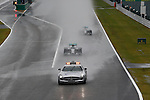 Safety Car leads the field into turn one followed by the MercedesGP drivers Rosberg and Hamilton into lap 4<br /> SUZUKA, JAPAN, 05.10.2014, Formula One F1 race, JAPAN Grand Prix, Grosser Preis, GP du Japon, Motorsport, Photo by: Sho TAMURA/AFLO SPORT  GERMANY OUT