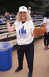 Sylvia Miles during the Women In Film softball game on June 1, 1987 in Central Park, New York City.