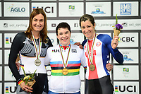 Picture by Simon Wilkinson/SWpix.com 23/03/2018 - Cycling 2018 UCI  Para-Cycling Track Cycling World Championships. Rio de Janeiro, Brazil - Barra Olympic Park Velodrome - Day 2 - Podium Megan GIGLIA