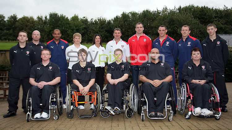 PICTURE BY VAUGHN RIDLEY/SWPIX.COM - Rugby League - England Rugby League World Cup Squad Announcement - Holiday Inn, Brighouse, England - 07/10/08...Copyright - Simon Wilkinson - 07811267706...Members of the England Men's, Women's and Wheelchair Rugby League teams gather together at the annoucement of the Men's Squad for the Rugby League World Cup.