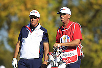 Phil Mickelson (Team USA) on the 17th tee during Sunday Singles matches at the Ryder Cup, Hazeltine National Golf Club, Chaska, Minnesota, USA.  02/10/2016<br /> Picture: Golffile   Fran Caffrey<br /> <br /> <br /> All photo usage must carry mandatory copyright credit (&copy; Golffile   Fran Caffrey)