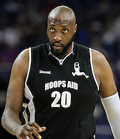 Priest Lauderdale Retired Pro Basketball Player during Hoops Aid 2015 Celebrity AllStars Basketball Match at the o2 Arena, London, England on 10 May 2015. Photo by Andy Rowland.