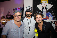 Artist Leonardo Hidalgo and Lou La Vie Owner, John Temerian, attend Real Housewives of Miami Season 3 VIP Premiere Party, at Lou La Vie, Miami, FL, on August 6, 2013