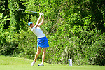 HOUSTON, TX - MAY 19: Katie Chipman of Grand Valley State tees off during the Division II Women's Golf Championship held at Bay Oaks Country Club on May 19, 2018 in Houston, Texas. (Photo by Justin Tafoya/NCAA Photos via Getty Images)