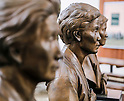 "The House of Sharing for Comfort Women, June 7, 2016 : Bust sculptures of the late South Korean comfort women are seen in the House of Sharing in Gwangju, Gyeonggi province, about 30 km (18 miles) southeast of Seoul, June 7, 2016. The House of Sharing is a shelter for living South Korean ""comfort women"", who said they were forced to become sexual slavery by Japanese military during the Second World War. It was founded in 1992 with funds organized by Buddhists and other civic groups. The Museum of Sexual Slavery by Japanese Military locates in the shelter. (Photo by Lee Jae-Won/AFLO) (SOUTH KOREA)"