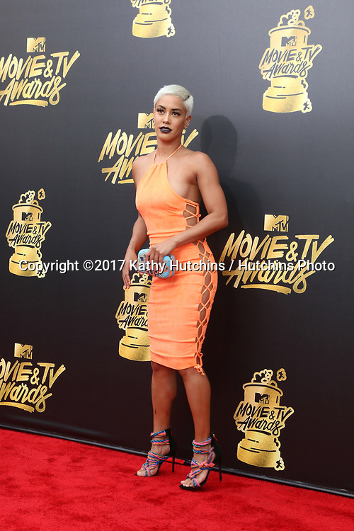 LOS ANGELES - MAY 7:  Sibley Scoles at the MTV Movie and Television Awards on the Shrine Auditorium on May 7, 2017 in Los Angeles, CA