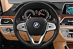 Car pictures of steering wheel view of a 2016 BMW 7 Series 740i 4 Door Sedan Steering Wheel