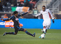 Sheanon Williams, Jerry Bengtson.  The Philadelphia Union defeated the New England Revolution, 1-0, at PPL Park in Chester, PA.