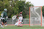 Palos Verdes, CA 04/20/10 - Ryan Silver (Mira Costa #14) and Grant Cigliano (Palos Verdes #5) in action during the Mira Costa-Palos Verdes boys lacrosse game.