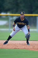 Pittsburgh Pirates first baseman Jhoan Herrera (67) during an Instructional League game against the Tampa Bay Rays on September 27, 2014 at the Charlotte Sports Park in Port Charlotte, Florida.  (Mike Janes/Four Seam Images)