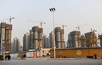 CHINA Province Shaanxi, Xian,real estate market, construction of new buildings