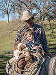 Cattle branding with the Dell'Orto family at the Ellis Ranch, Amador County, Calif.<br /> <br /> Steve Wooster and Waylon Dell'Orto