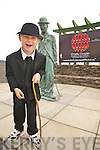 Dylan Fitzgerald from Waterville getting a great laugh out of the upcoming Charlie Chaplin Comedy Film Festival.....