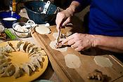 January 14, 2009. Chapel Hill, NC..Cooking dumplings with cookbook author Nancie McDermott