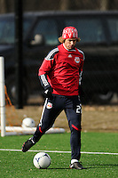 Stephen Keel (22) during a New York Red Bulls practice on the campus of Montclair State University in Upper Montclair, NJ, on July 16, 2012.