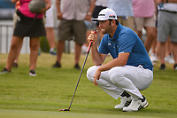Jon Rahm (ESP) looks over his putt on 9 during round 1 of the 2019 Charles Schwab Challenge, Colonial Country Club, Ft. Worth, Texas,  USA. 5/23/2019.<br /> Picture: Golffile | Ken Murray<br /> <br /> All photo usage must carry mandatory copyright credit (© Golffile | Ken Murray)