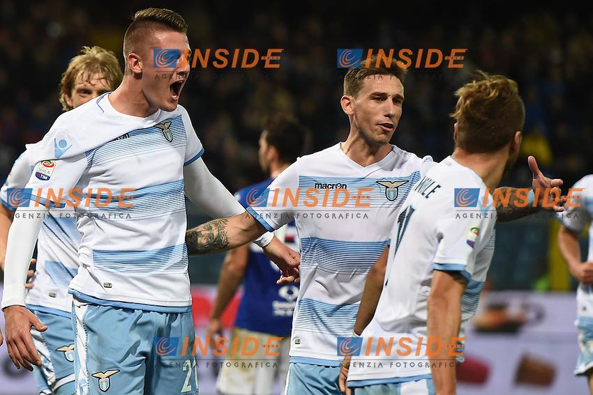 esultanza gol Sergej Milinkovic-Savic Lazio Goal celebration <br /> Genoa 10-12-2016 Stadio Marassi Football Calcio Serie A 2016/2017 Sampdoria - Lazio foto Image Sport/Insidefoto