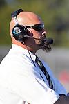 Palos Verdes, CA 11/12/10 - Coach Adam Boydin action during the Palos Verdes - Peninsula varsity football game at Peninsula High School.