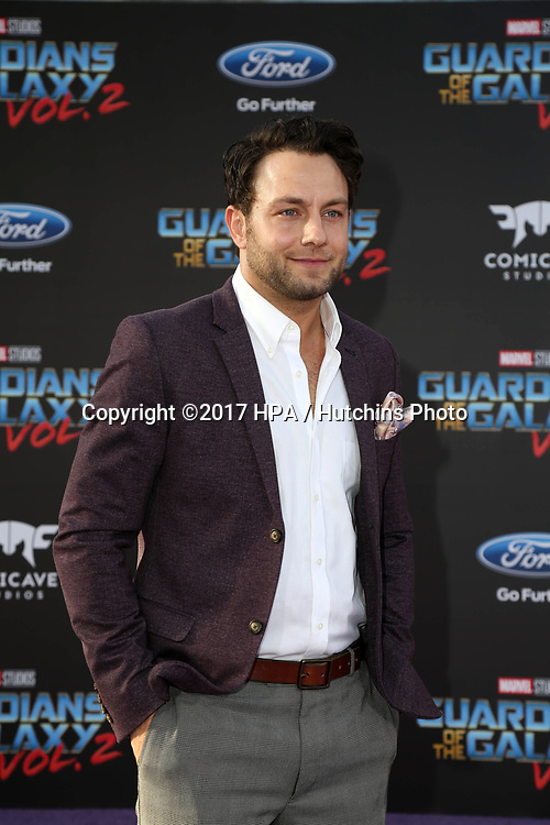 "LOS ANGELES - APR 19:  Jonathan Sadowski at the ""Guardians of the Galaxy Vol. 2"" Los Angeles Premiere at the Dolby Theater on April 19, 2017 in Los Angeles, CA"