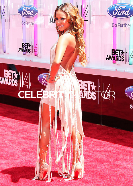LOS ANGELES, CA, USA - JUNE 29: Model Karrueche Tran arrives at the 2014 BET Awards held at Nokia Theatre L.A. Live on June 29, 2014 in Los Angeles, California, United States. (Photo by Xavier Collin/Celebrity Monitor)